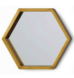 Bee Hive Mirror Gold Leaf