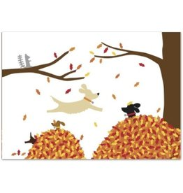 R. Nichols Dogs in Leaves, Box of 8 Notecards