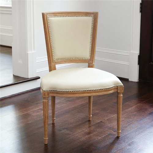 Marilyn Side Chair Ivory Leather ... & Marilyn Side Chair Ivory Leather - Considered items for a ...