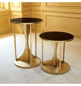 Global Views Hourglass Table-Antique Gold, Small