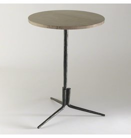 Global Views Elevate Accent Table w/Grey Marble Top