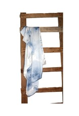 "Aviva Stanoff Design 45""x70"" Throw, Hand-dyed and Painted Wild Silk, Stardust"