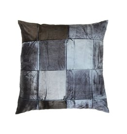 "20""x20"" Pillow, Signature Velvet, Pyrite on Eclipse"