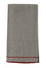 "Leonardo 20""x28"" Tea Towel, Natural Linen, Orange Stitching"