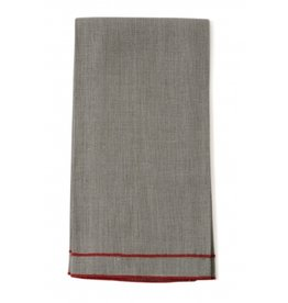 "Linen Way Leonardo 20""x28"" Tea Towel, Natural Linen, Orange Stitching"