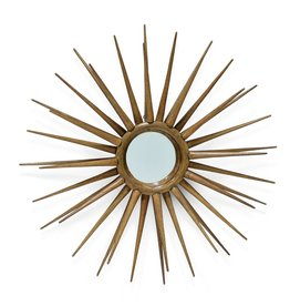 Rattan Spike Wall Mirror