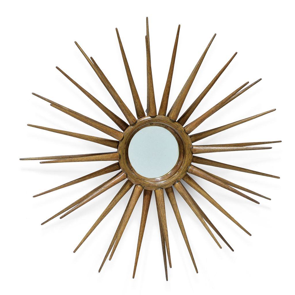 Rattan Spike Wall Mirror