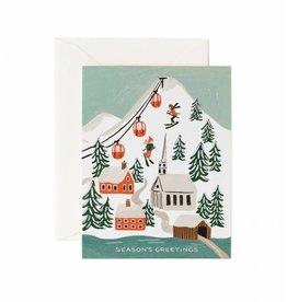 Rifle Paper Co. Holiday Snow Scene Card, Box of 8