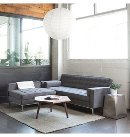 Spencer Loft Bi-Sectional, Stainless Steel Base