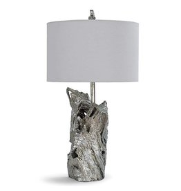 Driftwood Lamp-Ambered Silver