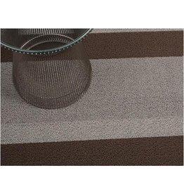 """Chilewich Bold Stripe Shag utility Mat, 24""""x36"""" ASH"""