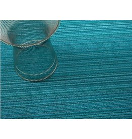 Chilewich Skinny Stripe ShagUtility24x36 TURQUOISE