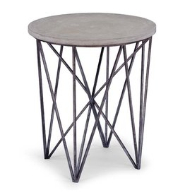 Cecil Accent Table-Black Iron