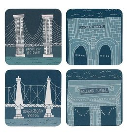 Fishs Eddy Bridge and Tunnel Coasters Set of 12