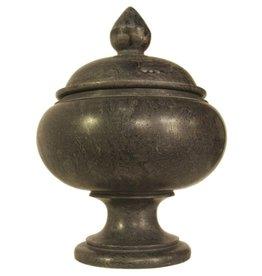 Noir Black Marble Urn, Large