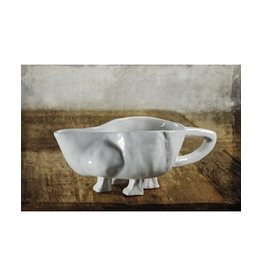 Montes Doggett Gravy Boat No. 151<br /> •Dishwasher, Microwave and Oven Safe<br /> •Hand Made in Peru•High Fired Ceramic<br /> •Dishwasher, Microwave and Oven Safe