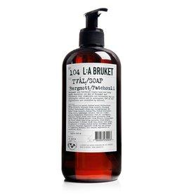 LA Bruket No. 104 Bergamot / Patchouli Liquid Soap, 450mL