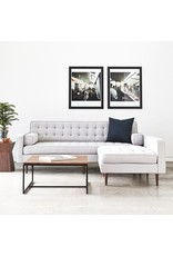 Spencer Loft Bi-Sectional, Wood Base