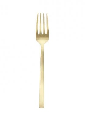 """Arezzo Brushed Gold Serving Fork 9.25"""""""