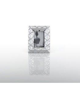 "Geo Photo Frame, 4"" x 6"", Silver"