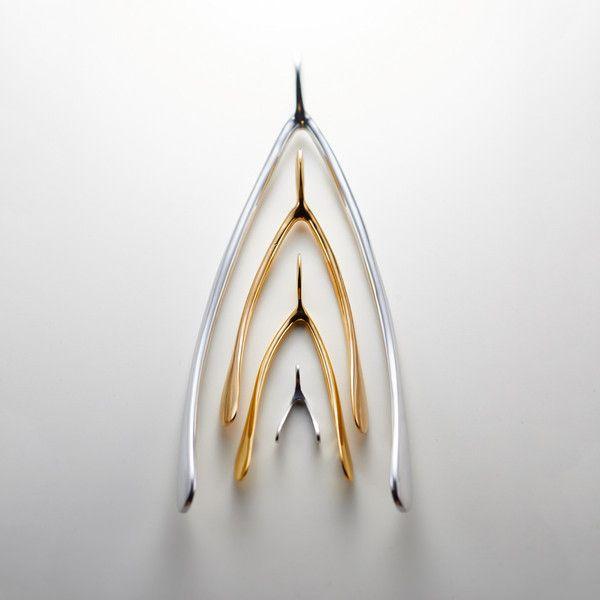 Large Wishbone, Silver