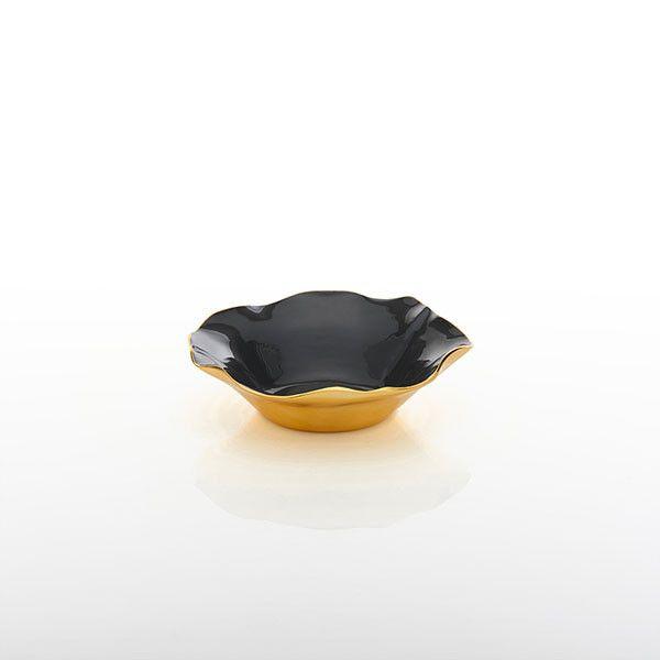 Medium Ruffled Bowl, Graphite