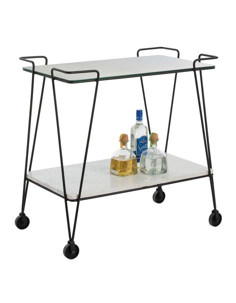 Arteriors Myrtle Bar Cart