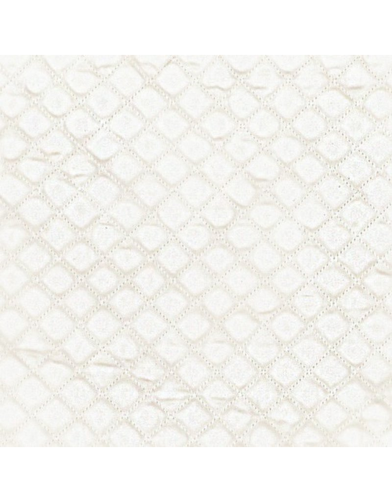 Ann Gish Diamond Coverlet Set, Ivory, King