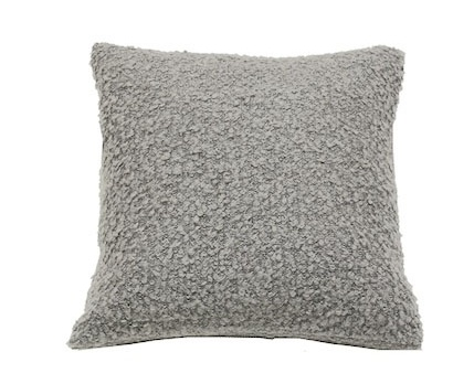 PILLOW BOUCLE IN LIGHT GREY