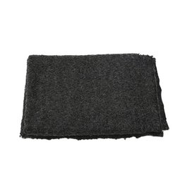 Ann Gish THROW BOUCLE IN CHARCOAL