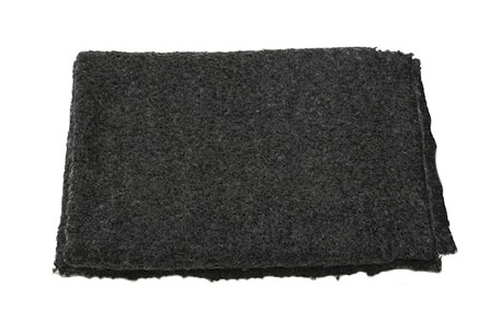 THROW BOUCLE IN CHARCOAL