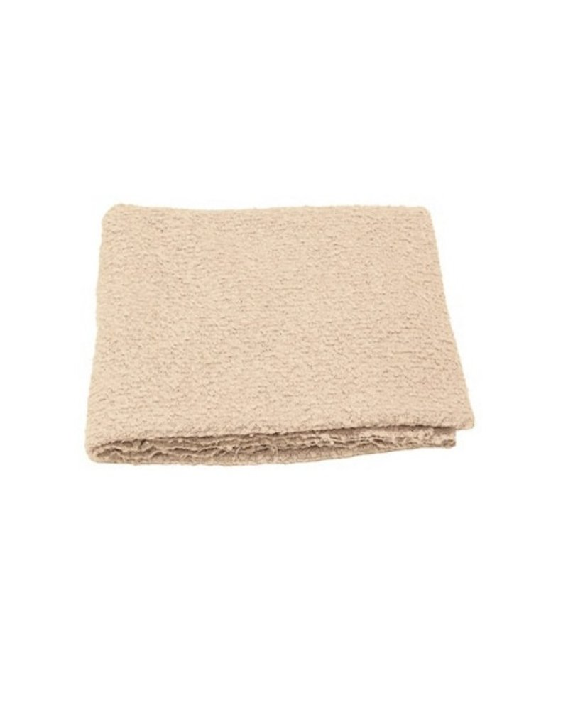 Ann Gish THROW BOUCLE IN OYSTER