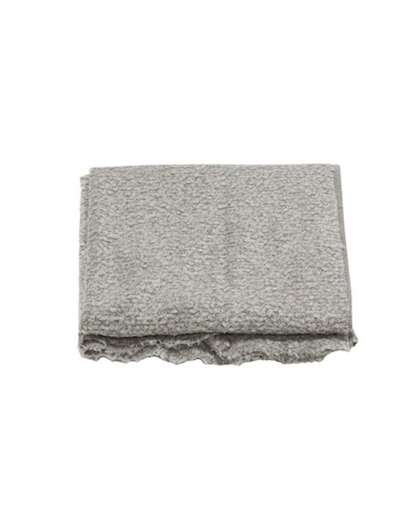 Ann Gish THROW BOUCLE IN LIGHT GREY