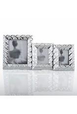 "Geo Photo Frame, 5"" x 7"", Silver"