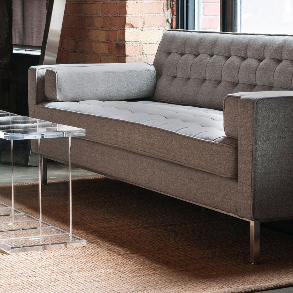 Spencer Sofa, Stainless Steel Base