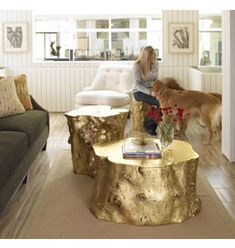 Phillips Collection Small Log Stool, Goldleaf