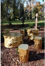 Small Log Stool, Goldleaf