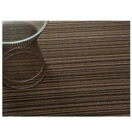 Chilewich Skinny Stripe Shag BigMat36x60 LATTE