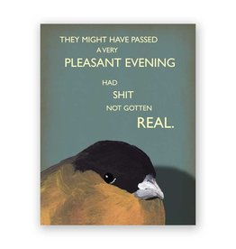 Mincing Mockingbird Pleasant Evening Card