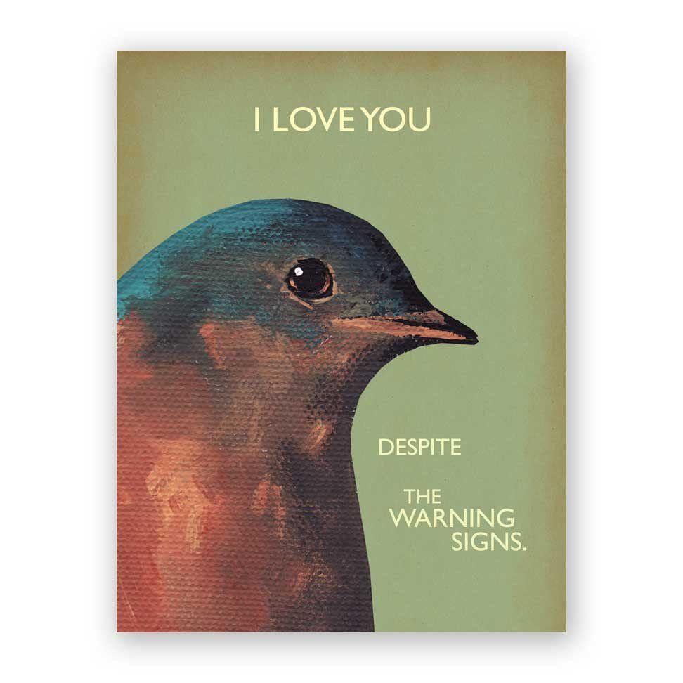 Warning Signs Card