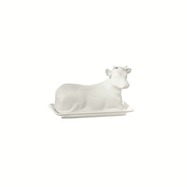 "LPB Mucchine Cow Butter Dish 7.5"" (19cm)"
