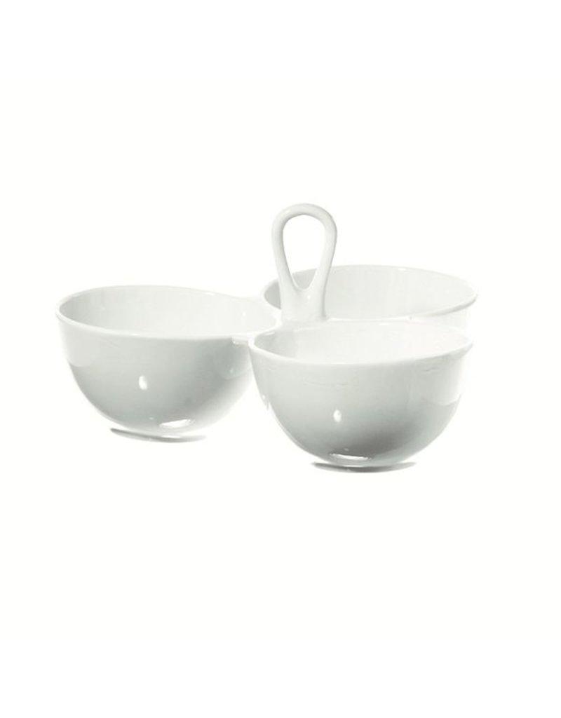 "Fortessa LPB Convivio 3 Bowls Serving with handle 8x8"" (20x20cm)"