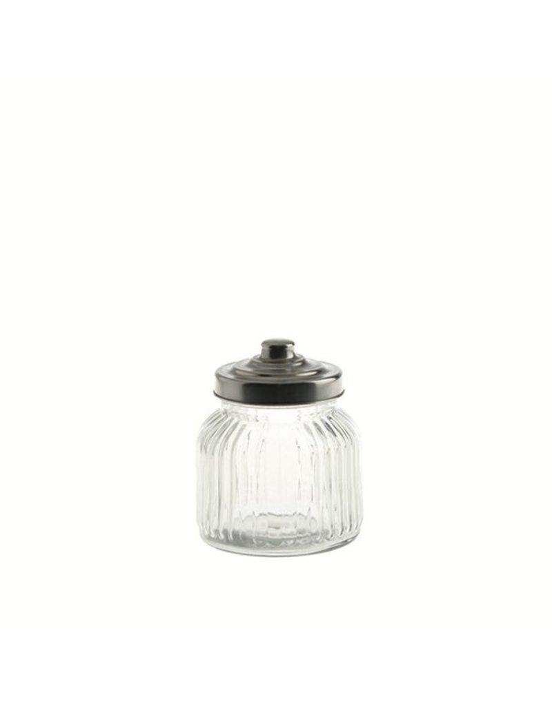 "Fortessa LPB Tuscania Ribbed.Glass Container 4.25x4.75"" (11x12cm) 20."