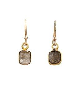 Avindy Labradorite Ribbon Drop Earrings