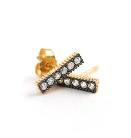 Avindy Pave Bar Stud Earrings