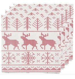 Now Designs SWEATER WEATHER NAPKINS, SET OF 4