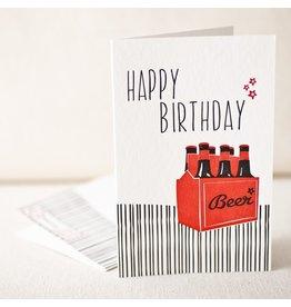 Birthday Seven Pack letterpress fold card