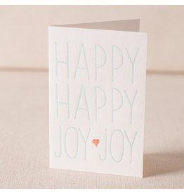 Smock Happy Joy letterpress card