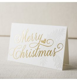 Spruce Christmas letterpress and foil cards, Box of 6