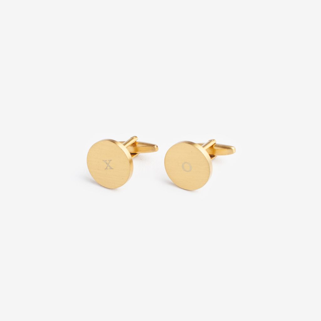 XO BRASS CUFFLINKS